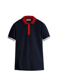 Camisa polo azul marino de Burberry
