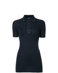 Camisa polo azul marino de Jil Sander Navy