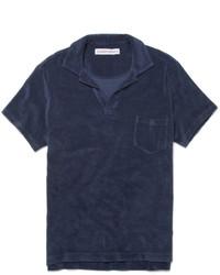 Camisa polo azul marino de Orlebar Brown