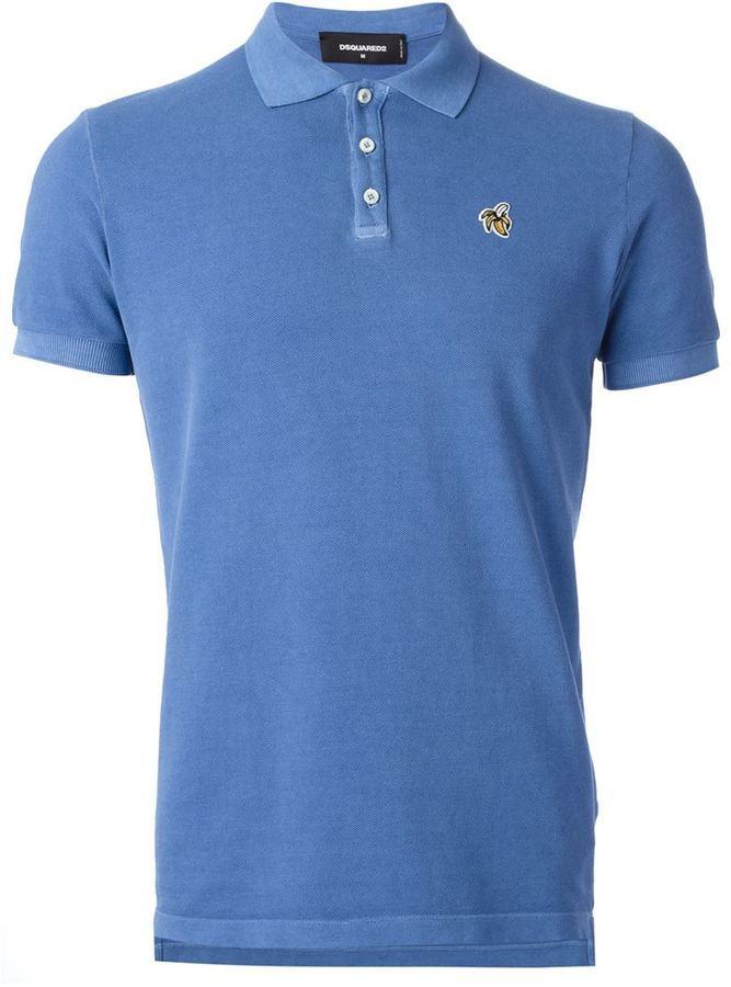 a3b643b801 Camisa Polo Azul de DSQUARED2  dónde comprar y cómo combinar