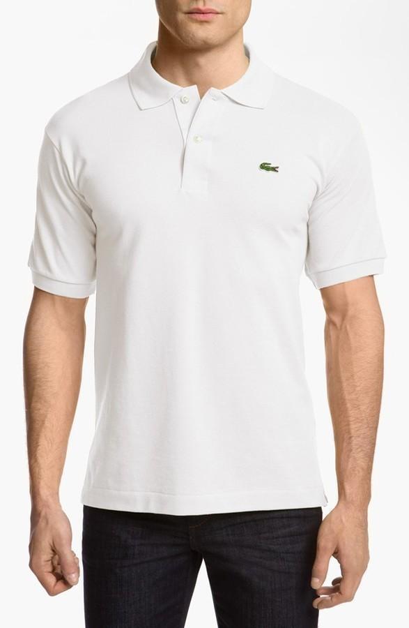 a8be5ed3fe47b ... Camisa polo blanca de Lacoste ...