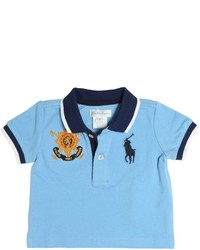 Camisa polo celeste de Ralph Lauren