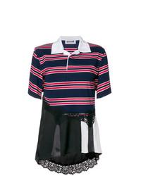Camisa polo de rayas horizontales azul marino de Koché