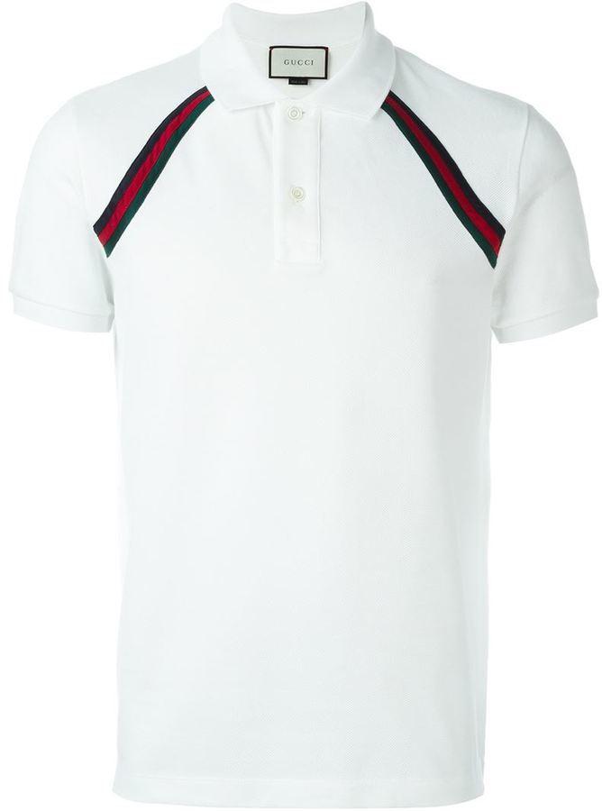 ... Camisa Polo de Rayas Horizontales Blanca de Gucci dónde comprar y ...  f6c2437b9df035 ... 8e1d302f251
