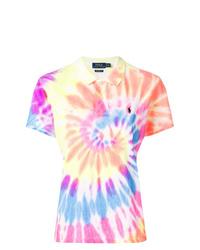 Camisa polo efecto teñido anudado en multicolor de Polo Ralph Lauren