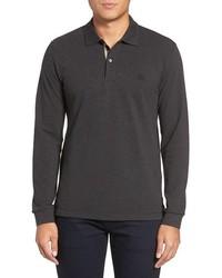 Camisa polo en gris oscuro de Burberry