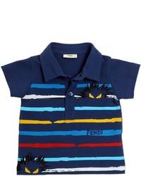 Camisa polo estampada azul marino
