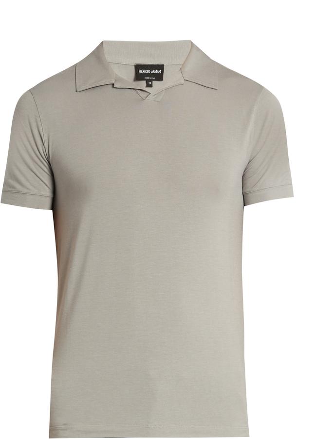 Camisa Polo Gris de Giorgio Armani  dónde comprar y cómo combinar 53aac08fa4614