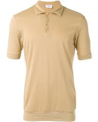 Camisa polo marrón claro