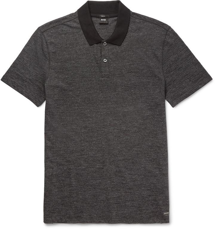 ... Camisa polo negra de Hugo Boss ... 9142c318964