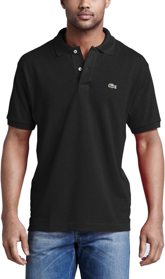 4739d54077104 ... Camisa polo negra de Lacoste ...