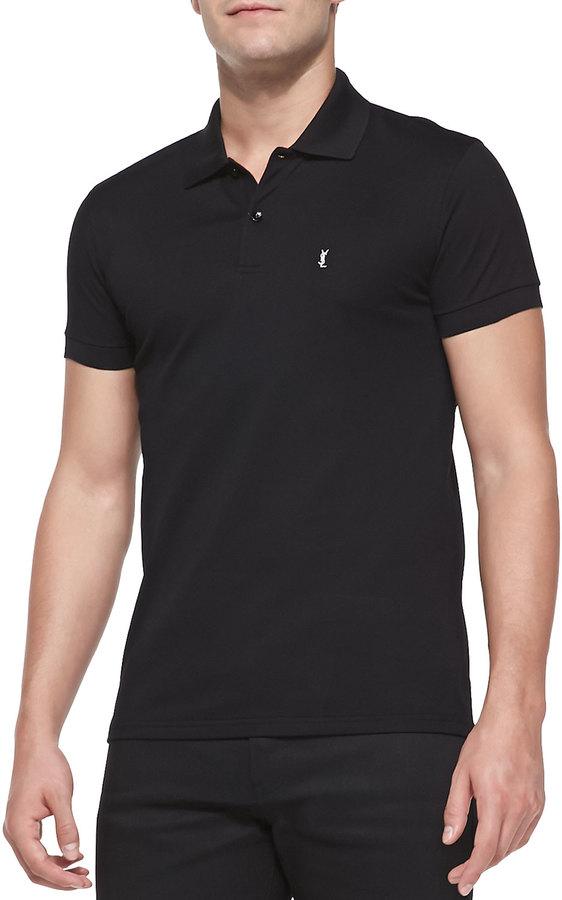 nueva estilos b8f35 4040f $350, Camisa polo negra de Saint Laurent
