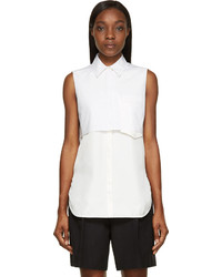 Camisa sin mangas blanca de 3.1 Phillip Lim