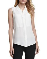 Camisa sin mangas blanca de Theory