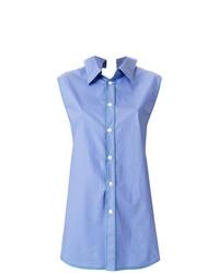 Camisa sin mangas celeste de Marni