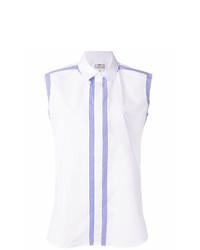 Camisa sin mangas de rayas verticales blanca de Maison Margiela