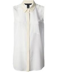 Camisa sin mangas de seda blanca de Marc by Marc Jacobs