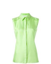 Camisa sin mangas en verde menta de Maison Margiela