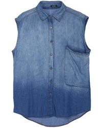Camisa sin mangas vaquera azul