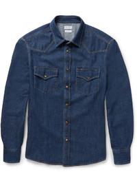 Camisa vaquera azul marino de Brunello Cucinelli