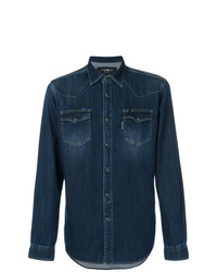 Camisa vaquera azul marino de Hydrogen