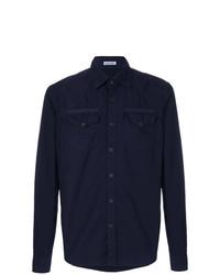 Camisa vaquera azul marino de Tomas Maier