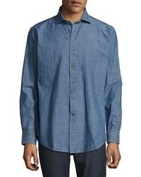 Camisa vaquera azul de Peter Millar