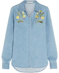 Camisa vaquera celeste de Stella McCartney