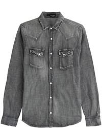 Camisa vaquera en gris oscuro
