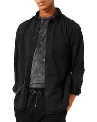 Camisa Vaquera Negra de Topman