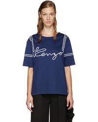 Camiseta azul marino de Kenzo