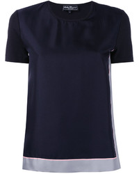 Camiseta azul marino de Salvatore Ferragamo