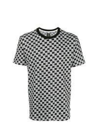 Camiseta con cuello circular a cuadros en blanco y negro de Vans