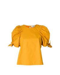 Camiseta con cuello circular amarilla de Sea