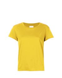 Camiseta con cuello circular amarilla de Simon Miller