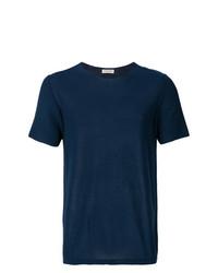 Camiseta con cuello circular azul marino de Al Duca D'Aosta 1902