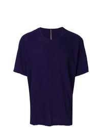 Camiseta con cuello circular azul marino de Attachment