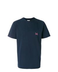 Camiseta con cuello circular azul marino de Calvin Klein Jeans