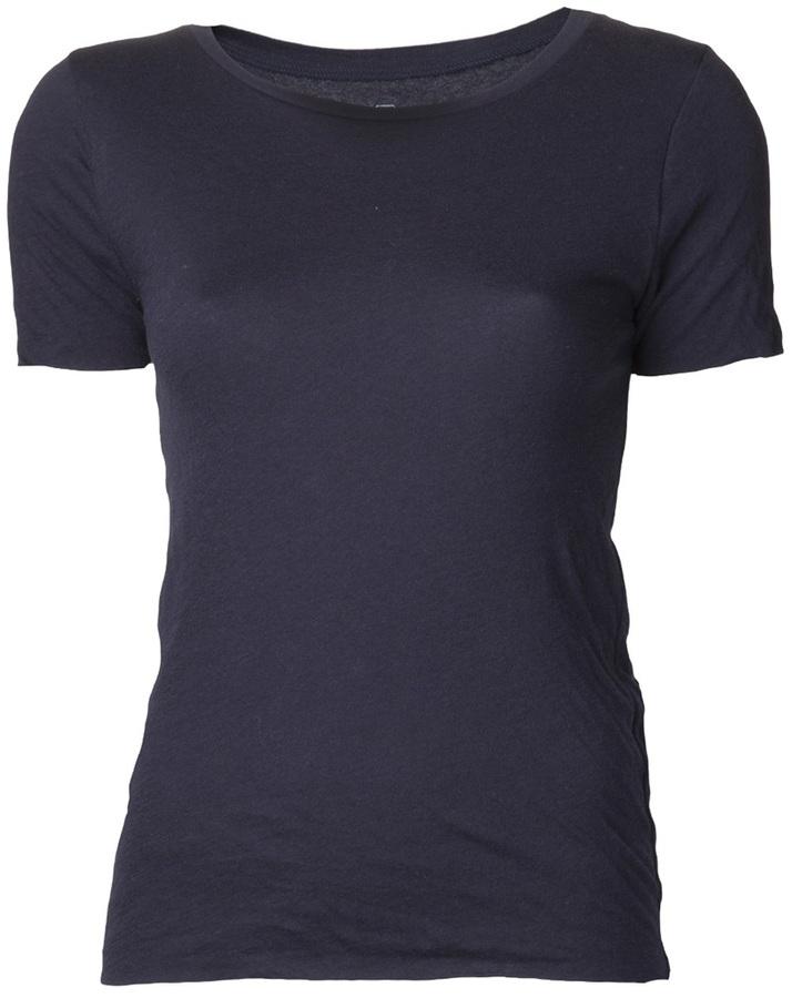 Camiseta con cuello circular azul marino de Drifter