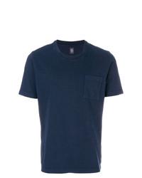 Camiseta con cuello circular azul marino de Eleventy