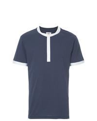 Camiseta con cuello circular azul marino de Kent & Curwen