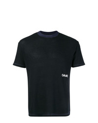 Camiseta con cuello circular azul marino de Oamc