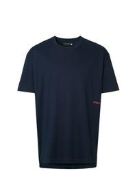 Camiseta con cuello circular azul marino de Off Duty