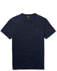 Camiseta con cuello circular azul marino de Polo Ralph Lauren