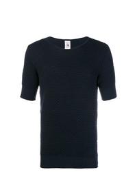 Camiseta con cuello circular azul marino de S.N.S. Herning