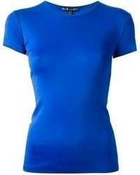 Camiseta con cuello circular azul de Ralph Lauren