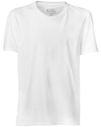 Camiseta con cuello circular blanca