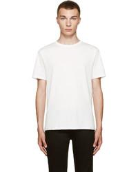 Camiseta con cuello circular blanca de Acne Studios