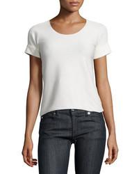 Camiseta con cuello circular blanca de Armani Collezioni