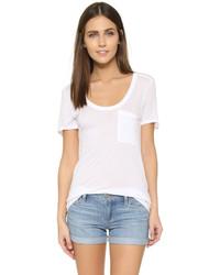Camiseta con cuello circular blanca de Club Monaco